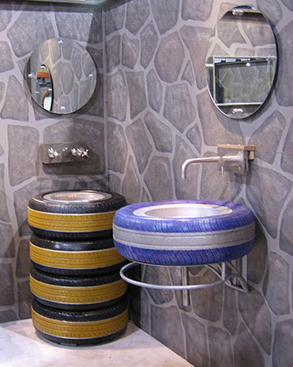 Funcionales muebles realizados con neum ticos reciclados - Reciclar muebles usados ...