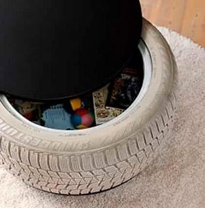 Funcionales muebles realizados con neum ticos reciclados for Mesas con neumaticos